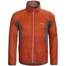 Berghaus Viso Wind Jacket (For Men) in Orange/Grey - Closeouts