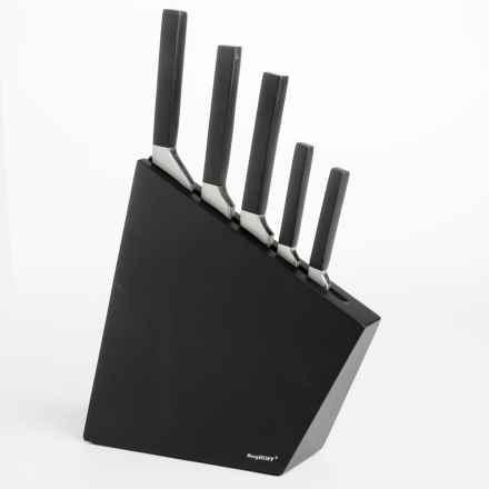 BergHOFF Cubo Forged Knife Block Set - 6-Piece in Black - Closeouts