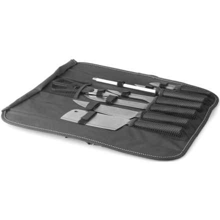 BergHOFF Eclipse Knife Set with Folding Bag - 9-Piece in Black - Closeouts