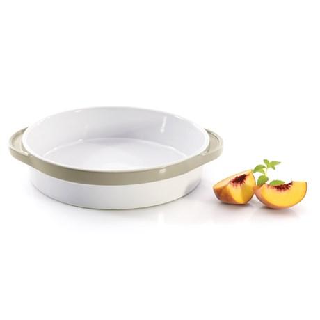 "BergHOFF Eclipse Round Baking Dish - 11x9"" in White/Tan"