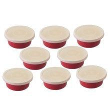 Berghoff Geminis Round Covered Dishes - Set of 8 in Red - Closeouts