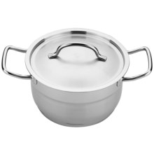 "BergHOFF Hotel Line 7"" Covered Casserole - 2.6 qt. in Stainless Steel - Closeouts"