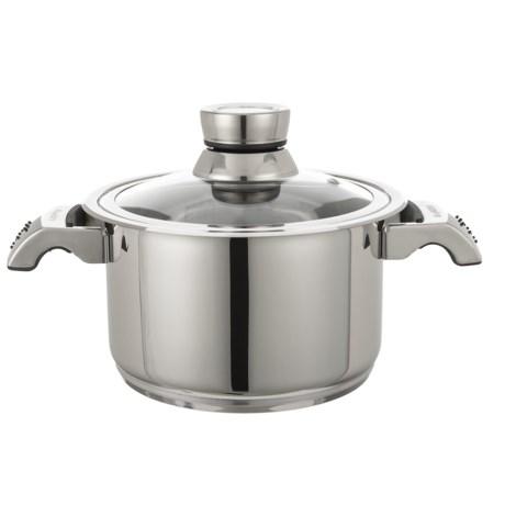 BergHOFF Invico Vitrum Dutch Oven with Lid - 4 qt. in Silver