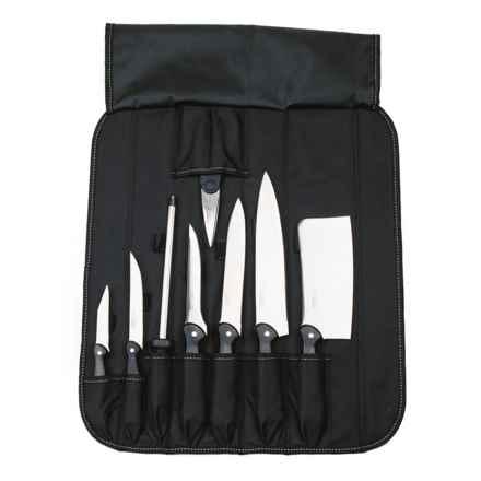 BergHOFF Studio Cutlery Set in Folding Wrap Bag - 9-Piece in Black - Closeouts