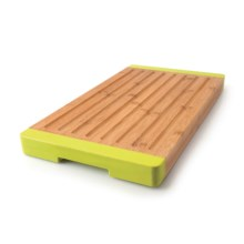BergHOFF Studio Grooved Bamboo Bread Board in Bamboo/Green - Closeouts