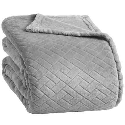 Berkshire Blanket Basket-Weave VelvetLoft® Blanket - Full-Queen in Chateau Grey - Closeouts