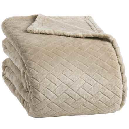 Berkshire Blanket Basket-Weave VelvetLoft® Blanket - Twin in Doeskin - Closeouts