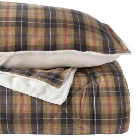 Berkshire Blanket Campfire Plaid Flannel Comforter Mini-Set - Full-Queen in Campfire Plaid - Closeouts