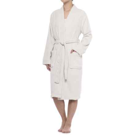 Berkshire Blanket Day Dream Waffle Robe and Throw Blanket (For Women) in Stardust - Closeouts