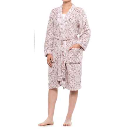 Berkshire Blanket DayDream Medallion Printed Plush Robe - Long Sleeve (For Women) in Purple Medallion - Closeouts