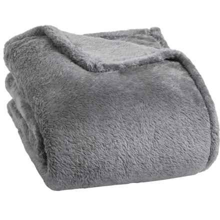 Berkshire Blanket Fluffy Plush Blanket - Full-Queen in Light Grey - Closeouts