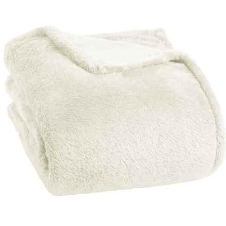Berkshire Blanket Fluffy Plush Blanket - King in Cream - Closeouts