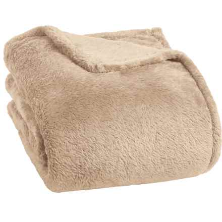 berkshire blanket fluffy plush blanket king in cuban sand closeouts