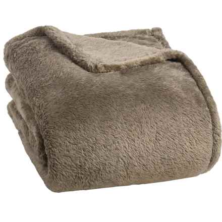 Berkshire Blanket Fluffy Plush Blanket - King in Latte - Closeouts