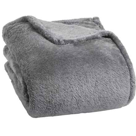 Berkshire Blanket Fluffy Plush Blanket - King in Light Grey - Closeouts
