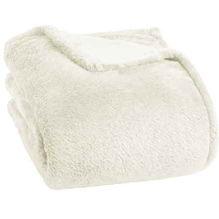 Berkshire Blanket Fluffy Plush Blanket - Twin in Cream - Closeouts