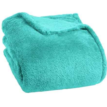 Berkshire Blanket Fluffy Plush Blanket - Twin in Lagoon - Closeouts