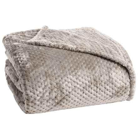 Berkshire Blanket Plush Honeycomb Blanket - Full-Queen in Linen - Closeouts