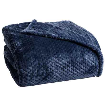 Berkshire Blanket Plush Honeycomb Blanket - Full-Queen in Navy Blazer - Closeouts