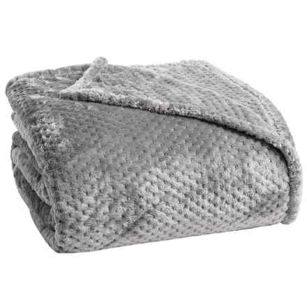 Berkshire Blanket Plush Honeycomb Blanket - Full-Queen in Wild Dove - Closeouts