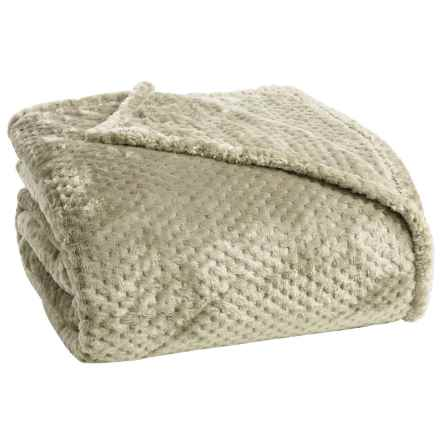 Berkshire Blanket Plush Honeycomb Blanket - Twin in Truffle - Closeouts