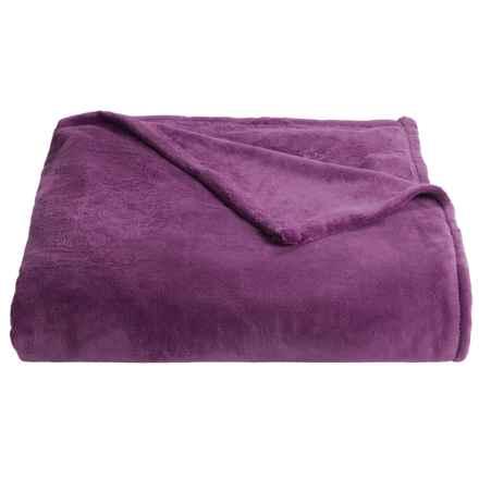 Berkshire Blanket Serasoft Blanket - Full-Queen in Eggplant - Closeouts