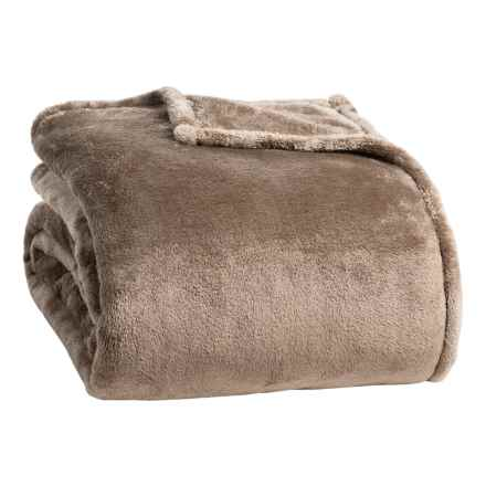 Berkshire Blanket Shimmersoft Plush Blanket - King in Mocha Latte - Closeouts
