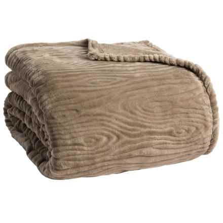 Berkshire Blanket Woodgrain Embossed VelvetLoft® Blanket - King in Woodgrain - Closeouts