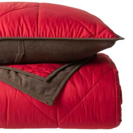Berkshire Polartec® Neo Tec Comforter Set - Full-Queen in Deep Persimmon - Closeouts