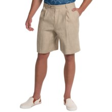 Berle Ascot Linen Shorts (For Men) in Natural - Closeouts