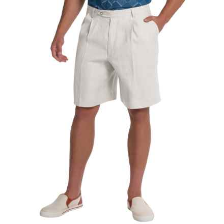 Berle Ascot Linen Shorts (For Men) in White - Closeouts