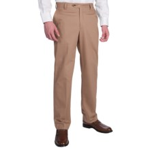 Berle Brushed Cotton Twill Dress Pants (For Men) in British Tan - Closeouts