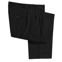 Berle Corduroy Pants - Double Reverse Pleats (For Men) in Black - Closeouts