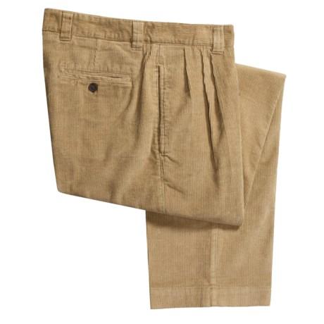 Berle Corduroy Pants - Double Reverse Pleats (For Men) in Black