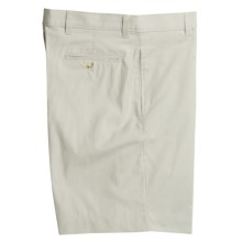 Berle Corduroy Shorts - Flat Front (For Men) in Tan/White - Closeouts