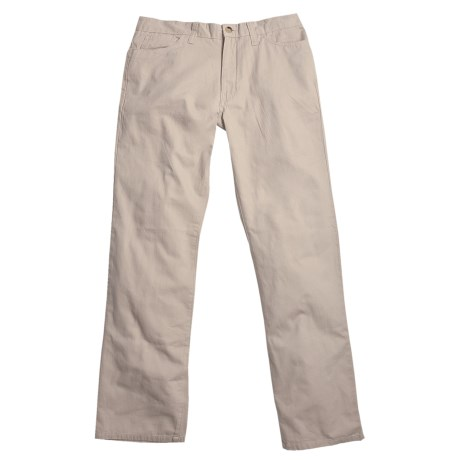 Berle Enzyme Stonewash Pants - Cotton Twill, 5-Pocket (For Men) in Khaki