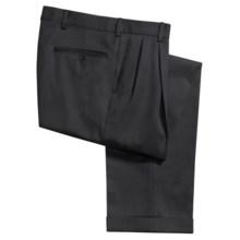 Berle Gabardine Dress Pants - Wool, Pleated (For Men) in Navy - Closeouts