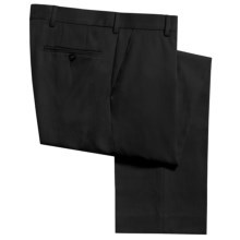 Berle Hampton Dress Pants - Wool Gabardine (For Men) in Black - Closeouts