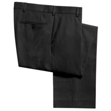 Berle Hampton Dress Pants - Wool Gabardine (For Men) in Charcoal - Closeouts