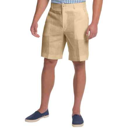 Berle Linen Shorts (For Men) in Khaki - Closeouts