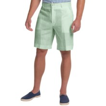 Berle Linen Shorts (For Men) in Sea Mist - Closeouts