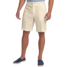 Berle Linen Shorts (For Men) in White - Closeouts