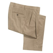 Berle Natural Stretch Tropical Cuffed Pants - Wool, Double-Reverse Pleats (For Men) in Tan - Closeouts