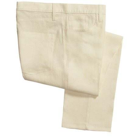 Berle Vintage 1946 Linen Pants - 5-Pocket (For Men) in White