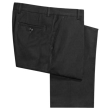 Berle Wool Gabardine Pants - Pleats    (For Men) in Charcoal - Closeouts