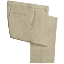 Berle Worsted Wool Dress Pants - Flat Front (For Men) in Light Green - Closeouts