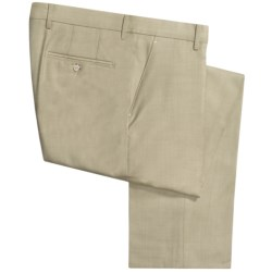 Berle Worsted Wool Dress Pants - Flat Front (For Men) in Light Green