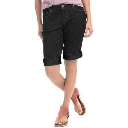 Bermuda Shorts - Chambray (For Women) in Black - 2nds