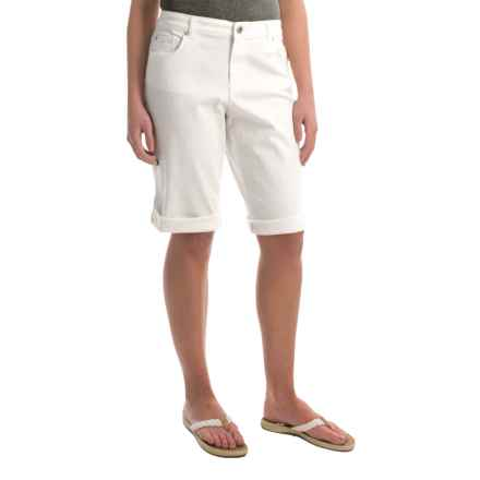 Bermuda Shorts - Chambray (For Women) in White - 2nds