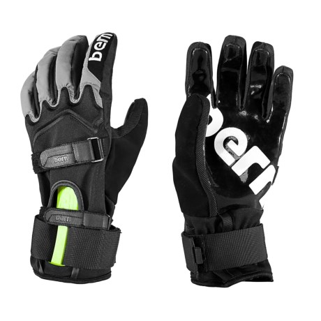 Bern Adjustable Glove with Wrist Guard (For Men and Women) in Black